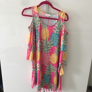 Lilly Pulitzer inspired pink pineapple dress